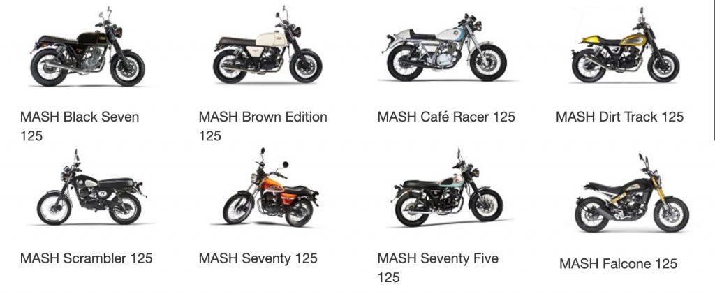 Alle Mash 125cc A1 motoren aanbod